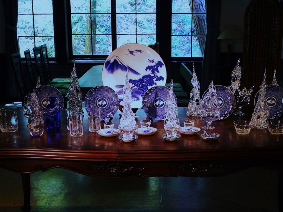 Blue/White&galass 藍を奏でるガラスたち