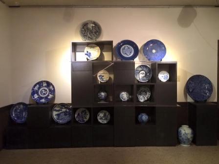 古の染付磁器大コレクション展と藍染の生活小物展
