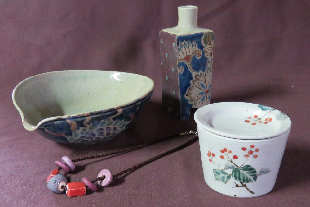羊歌窯 森田洋一・のり子 作陶展  ー神無月によせてー 和更紗文様と野の花の図案